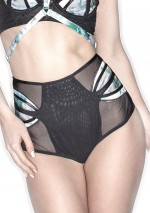 Printed high waisted brief with buttons Dalia Lascivious