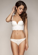 Ivory white bustier bra Retrolution Gossard