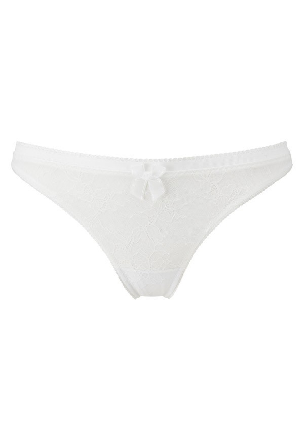 Ivory white thong Retrolution - Gossard