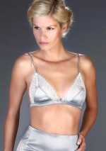 Satine grey triangle bra Villa Satine Maison Close