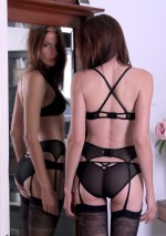 Double cross black mesh braletteFlash You And Me