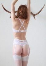 White mesh double cross bralette Flash You And Me