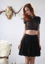 Black choker crop top Flash You And Me