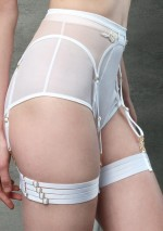 White bondage garters Flash You And Me