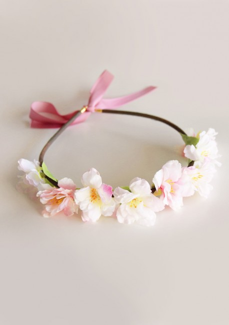 Cherry blossom wreath - Sa Majesté