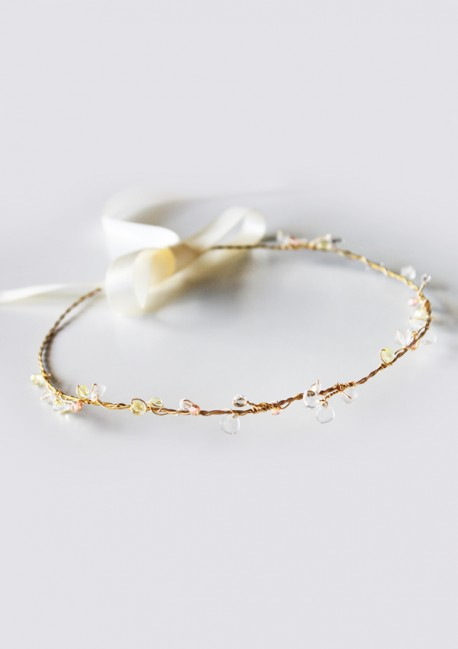 Golden hair jewellery with pearls - Sa Majesté