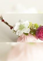 Couronne de fleurs et baies rougesSa Majesté