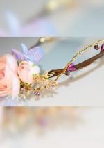 Couronne bijou rose et violetSa Majesté