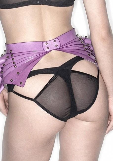 Culotte transparente noire Alexa Alexa - Lascivious