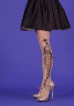 Tattoo Peacock tights Fantaisie Mirey