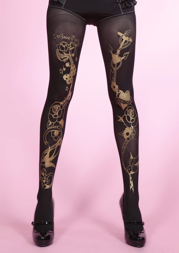 Tattoo Circus opaque tights Fantaisie - Mirey