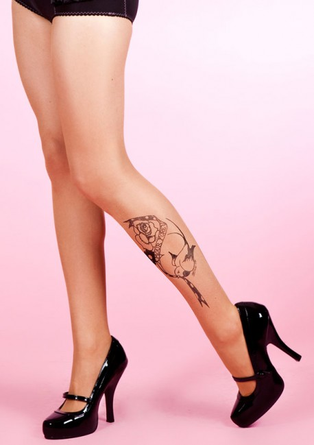 Collant Tattoo Bird Fantaisie - Mirey