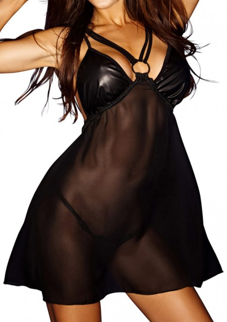 Robe transparente Bad O Good girls bad, bad girls worse Noir Handmade