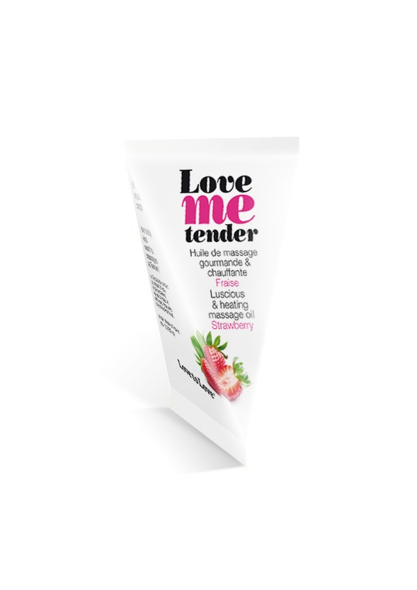 Huile de massage Love Me Tender Fraise en berlingot Love me tender - Love to Love
