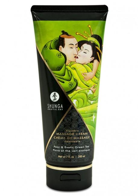 Crème de massage délectable poire & thé vert Shunga