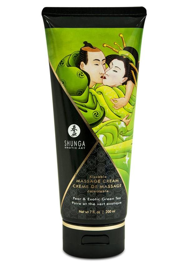 Crème de massage délectable poire & thé vert - Shunga