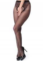 Black open seam pantyhose Miss O