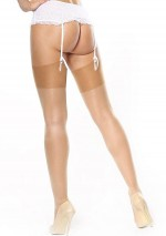 Silky flesh stockings Miss O