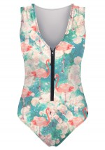 Flamingos one-piece swimsuit Flamingos Mr Gugu & Miss Go