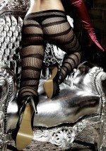 Black fishnet tights with stripesLes originauxBaci