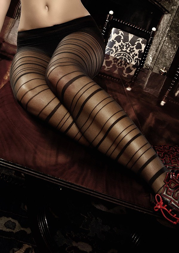 Black striped tights Les originaux - Baci