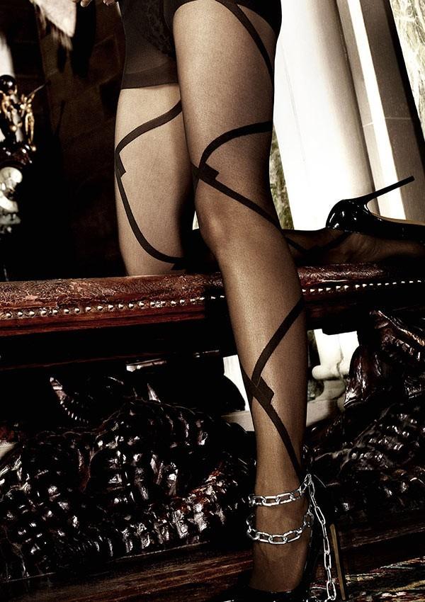 Printed black tights Les originaux - Baci