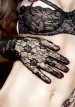 Gants dentelle noire à fleursHave fun PrincessBaci