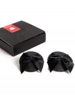 Black pasties with bowsBijoux Indiscrets