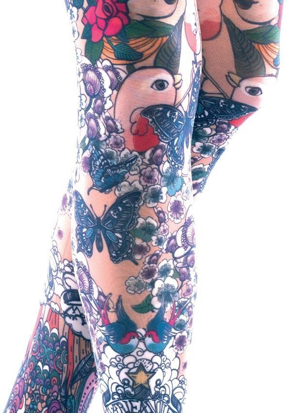 collant tatouage jos phine par marie antoilette. Black Bedroom Furniture Sets. Home Design Ideas