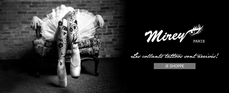 Nouveauté: les collants au look tattoo de la marque française Mirey